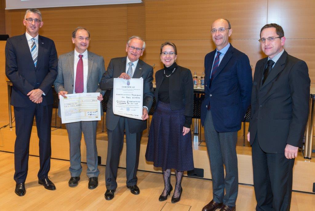 Grand Prix 2015 en sciences physiques de l'Institut grand-ducal / Prix Paul WURTH : Professeur Dr Susanne SIEBENTRITT (Université du Luxembourg) / lauréate